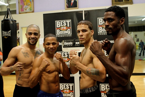 28 sept 2012 Last Pre Weigh In for The War Vazquez Jr  vs Oquendo- Vazquez Jr Calderon Oquendo and Gonzalez 2