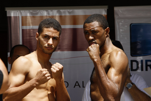 6 sept 2012 Official Weigh In Results for A Puño Limpio from Trujillo Alto Puerto Rico- Diaz vs Smith 2